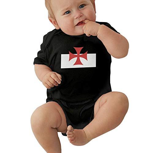 Bandera de Batalla de los Caballeros Templarios Baby Boys Pijama Unisex Romper Baby Girls Body Infant Funny Jumpsuit Outfit 0-2t Niños