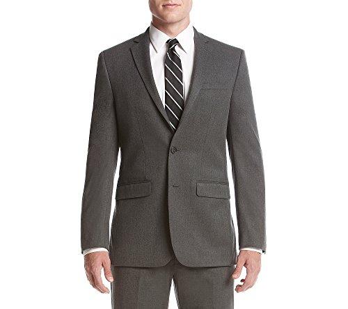 Van Heusen Men's Slim Fit Flex Stretch Suit Separate (Blazer and Pant), Grey Solid, 38 Regular