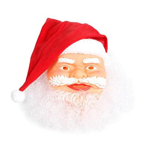 RunkeU Weihnachtsmann-Latexmaske, Realistische Vollgesichts-Latexmaske Weihnachtsmann-Maske Lustige Cosplay-Anzieh-Requisiten Für Ausgefallene Maskerade-Weihnachtsfeier Jahre Urlaub