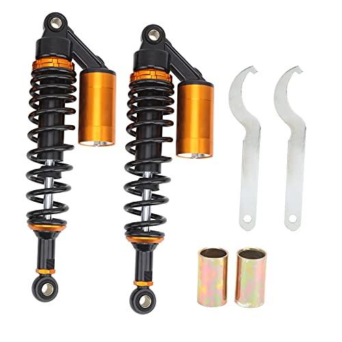 Amortiguador de suspensión, par de amortiguadores de 13,39 pulgadas, amortiguador de suspensión delantero trasero con bolsillo de aire universal para ATV motocicleta Gokart