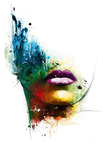 YWOHP Arte de la Pared Chica Colorida Acuarela Cartel nórdico Abstracto Sala de Estar Bar Mural decoración del hogar jardín de Infantes habitación de los niños Lienzo pintura-35_X_50_cm_No_Frame_3