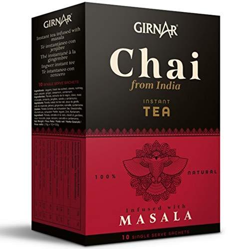 Chai Latte GIRNAR 100g (10 beutel) - Chai Masala - Chai - Chai tee - Indischer Chai Tee - Chai Tea - Chai Tee Portionsbeutel - Indian Chai - Chai Latte Teebeutel - Chai Tea Bags - Masala Chai