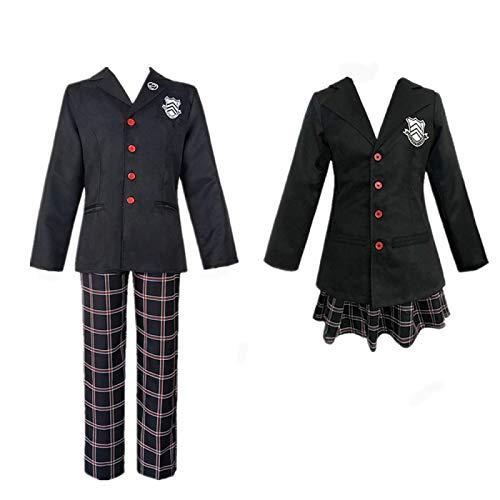 ULLAA Persona 5 P5 Amamiya REN Akira Kurusu Disfraz de Cosplay de Anime, Vestido de Uniforme Escolar, Trajes JK, Dos Estilos para Mujeres, Hombres, Conjunto Completo de Halloween