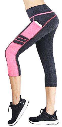 Munvot Mujer Mallas Deportivas Pantalones Cortos con Bolsillo para Correr Golf Yoga S