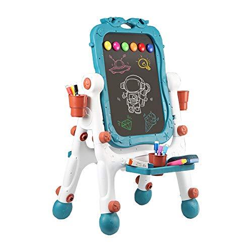 GWLGWL Caballete de Arte para Niños Caballete Pizarra Magnetica Infantil de Altura Ajustable Doble Cara de Juguetes Educativos Caballete para Niños de Dibujo para Niños y Niñas