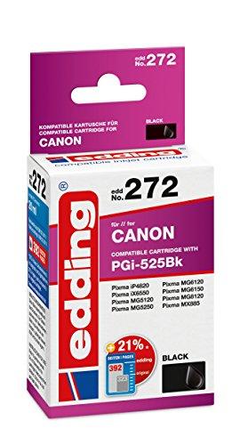 edding Tintenpatrone EDD-272 ersetzt Canon PGI-525BK - Schwarz - 20ml