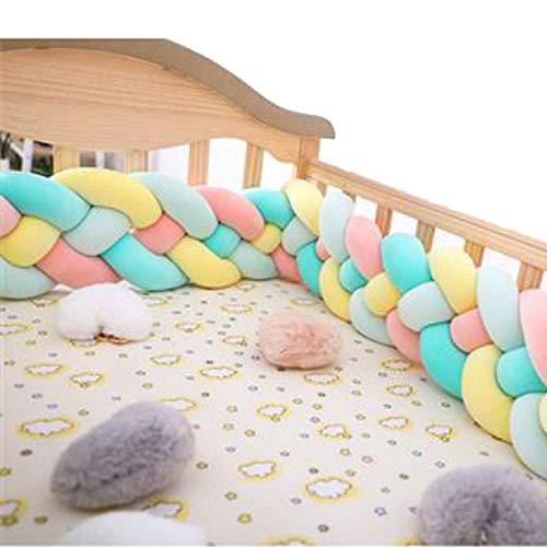 LM-Coat rack Barriere De Lit Bebe Tour De Lit, Tressé À La Main Berceau De Bébé Bed Sleep Bumper, Protection Enveloppante pour Nouveau-Nés Lit De Bébé Bébé,A4,2m