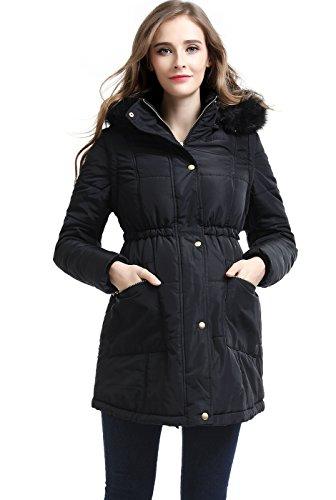 Momo Maternity Outerwear Nina Hooded Vest Convertible Parka Coat Pregnancy Winter Jacket