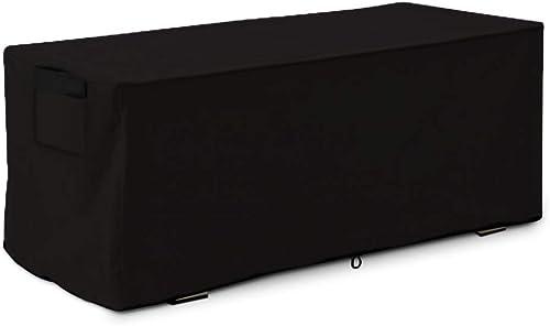 Linkool Housse de protection pour terrasse de qualité supérieure, noire, imperméable, convient pour boîte de rangemen...