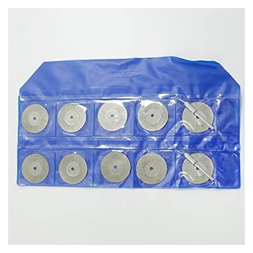 XYXXBB Rueda de Corte de Diamante, 12pcs Discos de la Cuchilla giratoria de la Cuchilla giratoria Mandrel para Herramientas rotativas Cortes de Corte de Gemas de Vidrio