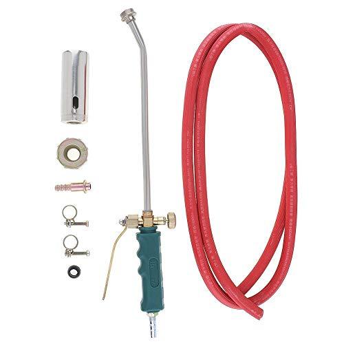 Doppelschalter Typ Flüssiggasbrenner 35 / 50mm Schweißen Spitfire-Pistolenstütze Sauerstoff Acetylen Propan zum Grillen/Haarentfernung Mini LöTbrenner (Welding Diameter : Double Switch 35mm)