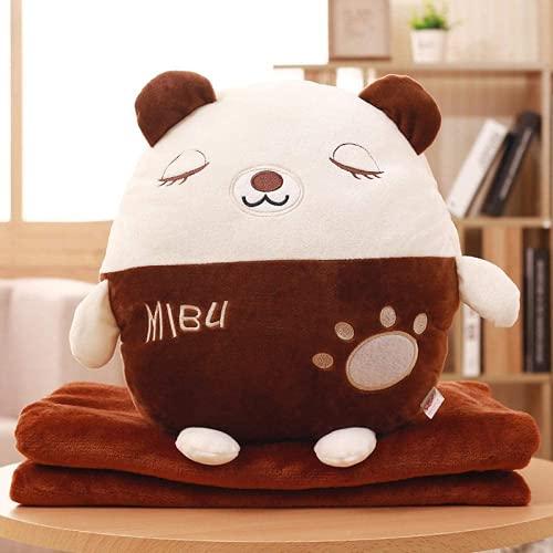 Ulyjcq Abrazo de Anime de Dibujos Animados Abrazo Manta de Almohada de Doble Uso, Sofa Pickup Pillow Manta es Almohada