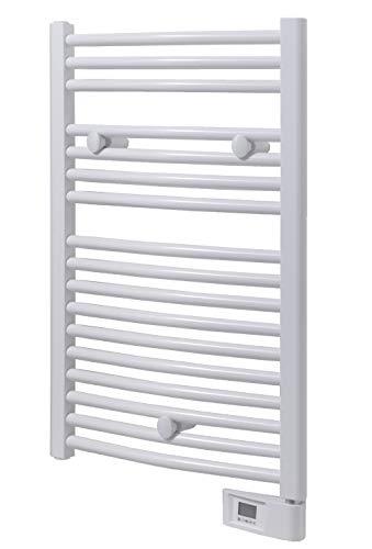 100W elettrico 5-Bar elettrico della cremagliera di tovagliolo,Bianca montaggio a parete /& Free Standing tovagliolo del riscaldatore per il bagno Scaldasalviette Heated Towel Rack e stenditoio