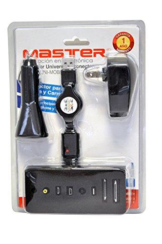 Master- Cargador con 8 puntas diferentes, puedes cargar tu producto apple, smartphone, ipad entre otros…