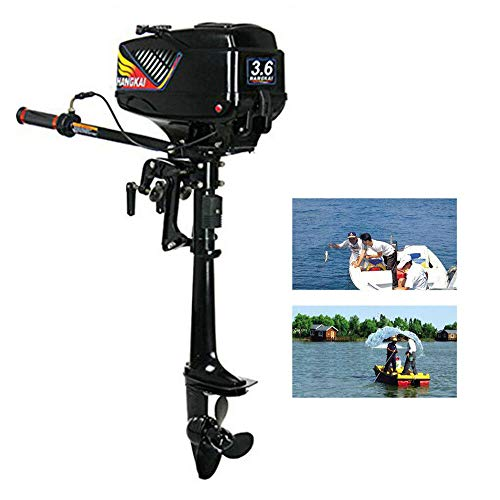 TBVECHI 3.6HP Outboard Motor 2 Stroke Inflatable 55CC Fishing Boat Engine with Water Cooling System, for Inflatable Boats, Fishing Boats, Sailboats, and Small Yachts