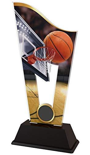 Trophy Monster - Trofeo de Baloncesto para niños, Fiestas, sin el Texto Personalizado Grabado