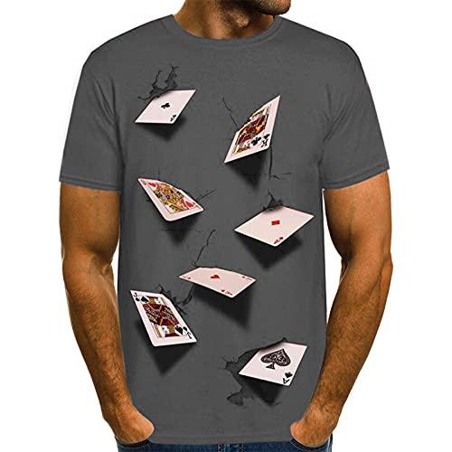 SSBZYES Camiseta para Hombre Verano Camiseta De Talla Grande para Hombre Camiseta De Manga Corta De Moda para Hombre Camiseta De Manga Corta con Cuello Redondo Estampado De Cartas Tridimensional