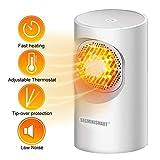 Mini ventilateur chauffant, ventilateur de chauffage Small Office Space Chauffage de bureau Protection contre la surchauffe et le...
