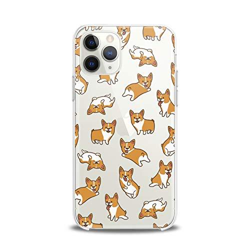 Lex Altern TPU Case for iPhone Apple 11 Pro Xs Max Xr 8 X 7 Plus 6s 5 Soft Smooth Cute Kawaii Feminine Girls Women Design Cover Print Teen Clear Dogs Flexible Slim fit Lightweight Gift Awesome Corgi