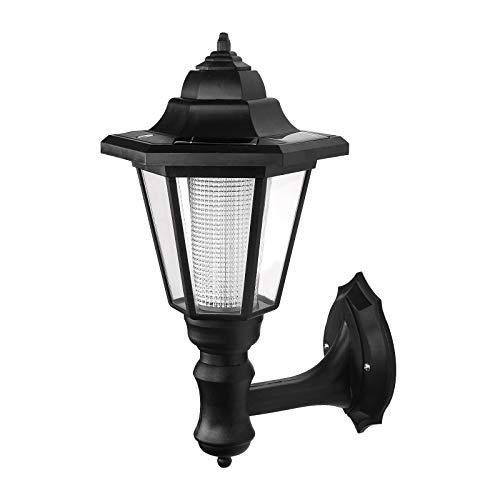 ONEVER Lámpara de pared led de energía solar Powered al aire libre | Lámpara Led Led Hexagonal | Paisaje de pared | Lámparas de patio para jardín | Blanco caliente a prueba de agua