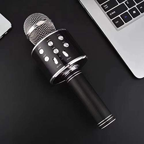 JINGTENG Micrófono de karaoke Bluetooth portátil altavoz profesional inalámbrico para el hogar...