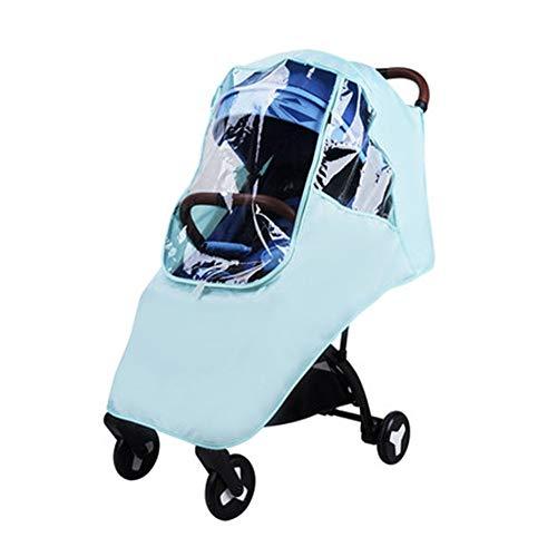 Housse de pluie pour poussette Poussette for enfants pluie poussette parapluie pluie Universel Couverture bébé Chariot coupe-vent Couverture de pluie ( Couleur : Vert , Taille : Taille unique )