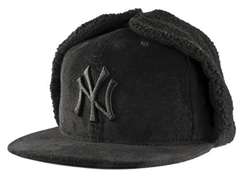 New Era 59Fifty York Yankees MLB DogEar Negro en Negro Cabido Gorra...