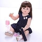 ZIYIUI Reborn 24 Pulgadas Realista Muñecos bebé Renacer Bebé Hermosa Muñeca Silicona 60cm Bebe Reborn Toddler Niña Recien Nacido Regalo de Juguete niño niña