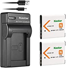 Kastar 2 Battery + Charger Replacement for Sony NP-BN1 DSC-QX10 QX30 QX100 DSC-TF1 DSC-TX10 TX20 DSC-TX30 DSC-W530 DSC-W570 DSC-W650 DSC-W800 DSC-W830