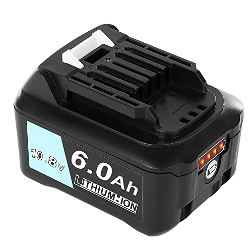 Akkopower マキタ 10.8V バッテリー 6000mAh BL1015 BL1040B BL1060 互換バッテリー 掃除機/電動工具用 BL1050B BL1041B-2 BL1021B BL1060B A-59863 リチウムイオン電池 互換
