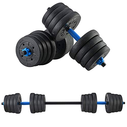 NJ508 Adjustable Weights Dumbbells Set Fitness Dumbbells Set for Men and Women with Connecting Rod Can Be Used As Barbell (88)