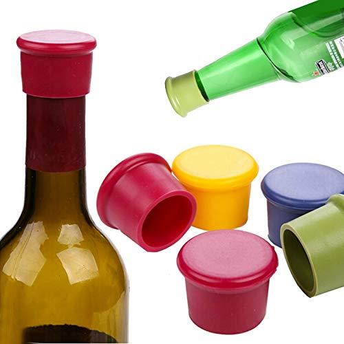 5 Unids/Lote Herramientas de Barra de Vino Botella de Vino Preservación de Silicona Toppers De Cocina Cocina de Champán Tapón Cierres De Bebidas