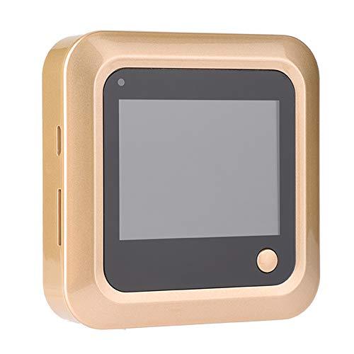 Richer-R Mirilla Digital, Visor de Puerta Digital Inteligente, Timbre Cámara para Seguridad de Casa/Oficina/Hotel,145° Gran Angular,2.4 Inch Pantalla HD 240 * 320,Aleación de Zinc