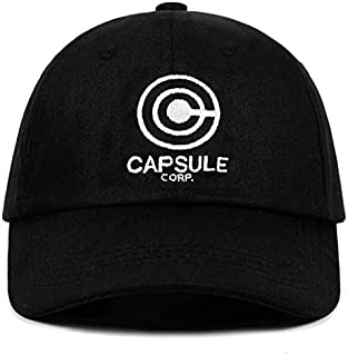 Rbfqfm Capsule Corp. Dad Hat Dragon Ball Z Anime Song 100% Cotton Embroidery Snapback Hats Unisex Gorra de beisbols Men Mujer