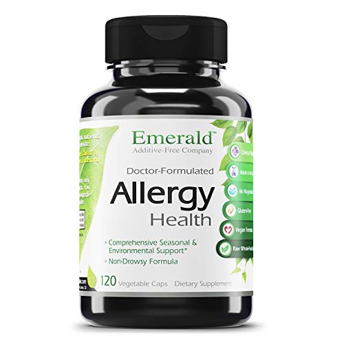 Allergy Health - with Quercetin, Bromelain & N-Acetyl Cysteine - Natural Antihistamine & Anti Inflammatory, Relief for Cough, Runny Nose, Itchy Eyes - Emerald Labs - 120 Vegetable Capsules