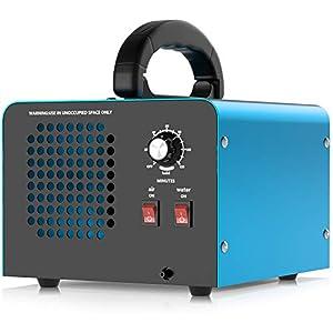 immagine di Generatore di ozono, dispositivo di ozono da 28000mg / h (con due modalità), purificatore d'aria industriale a ozono con timer, adatto per stanze, garage, agriturismi, può pulire fino a 300 mq
