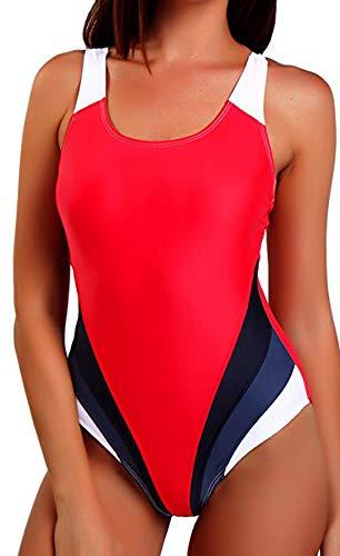 FITTOO Bañador Mujer Trajes de Baño Profesional Alta Elasticidad UV Protección vx250, Talla Chica