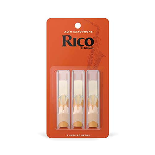 DAddario Woodwinds Alto Sax Reeds, Strength 3, 3-pack (RJA0330)