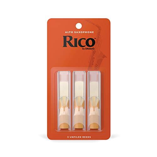 Confezione da 3 ance Rico per sassofono contralto, durezza 2,5