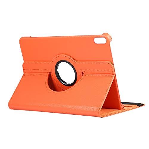 RZL Pad y Tab Fundas para Huawei Matepad 10.4, Caso de la Tableta Custer Doble Stand Soporte de la Cubierta de Cuero para Huawei Matepad 10.4 BAH3-AL00 BAH3-W09 (Color : 360 Orange)
