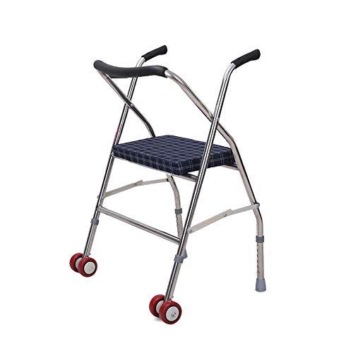 SSZZ Lichte inklapbare wandelwagen – op wielen met extra kar, veilig en duurzaam, geschikt voor personen met beperkte mobiliteit.