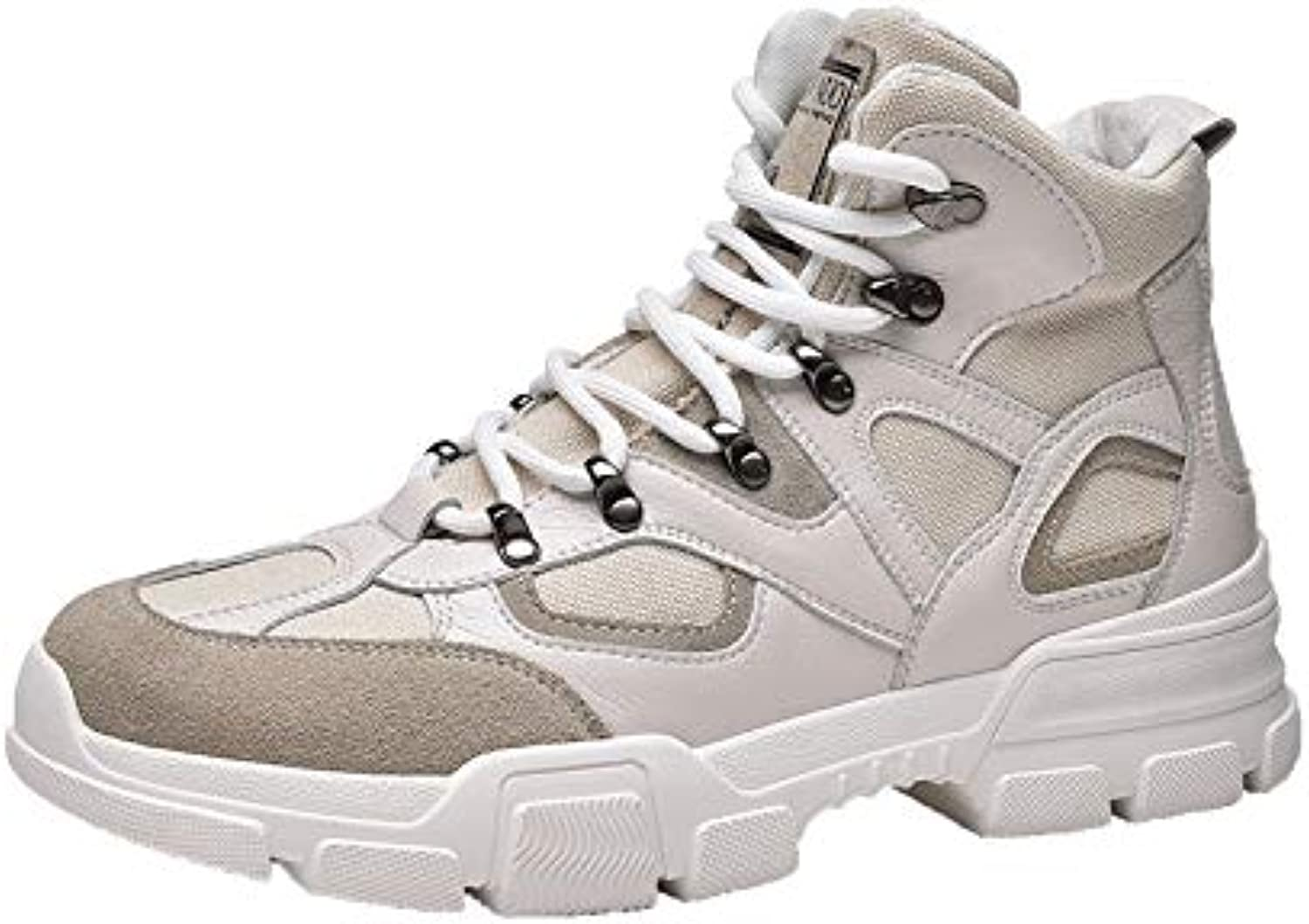 LOVDRAM Boots Men's Autumn White In The Martin Boots Men'S Wild Canvas Fashion Student Casual Sports High shoes