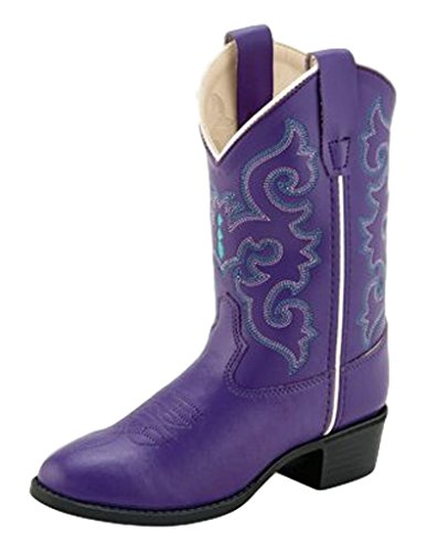 Old West Kids Boots Girl's Pearlized Purple (Toddler/Little Kid) Purple 9 Toddler M