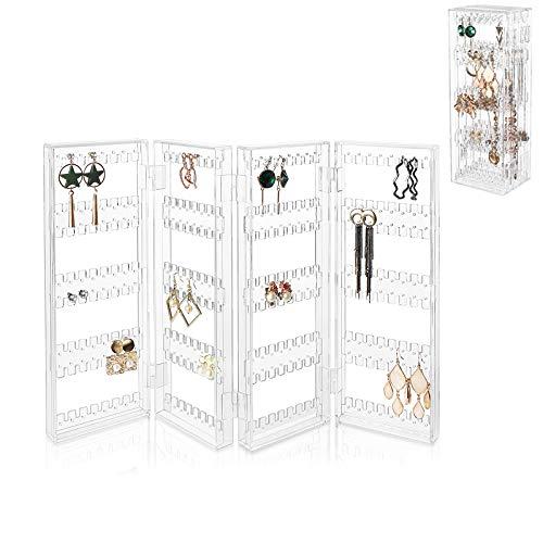 ORPERSIST Caja Joyero Organizador Grande Transparente, Acrílico Soporte Joyería, Plegable Colgante Organizador...