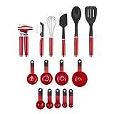 KitchenAid - Juego de herramientas y accesorios, Empire Red, 15 piezas, 1