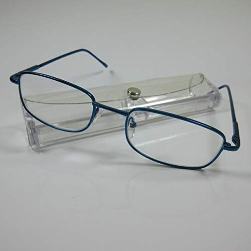 LINDAUER Herren Lesebrille Metall +3,0 blau Flexbügel Fertigbrille Lesehilfe