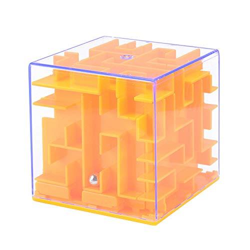 Wankd Lustige Spardose Labyrinth für Kinder & Erwachsene, Abschließbar Geldlabyrinth, Neue Art von Geldgeschenke Verpackung, Geschenkideen für Jungen und Mädchen (Orange)