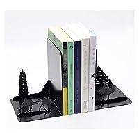 ブックエンド ブックエンド、ブックエンド、棚のためのブックエンド、ブックエンド棚のため、ブックエンド、重い本のためのブックエンド、メタルブックエンド1ペア 本立て (Color : E, サイズ : 1 pair)