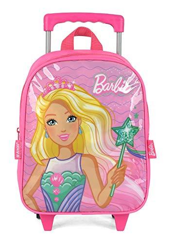 Mochila Barbie com roda pré escola
