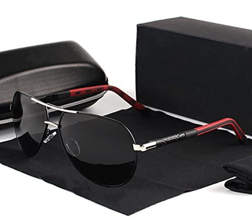 XOYOX Gafas de sol polarizadas para hombre Gafas de sol de piloto clásicas Lente de revestimiento antirreflectante Marco de aleación Gafas de sol de conducción Hombres
